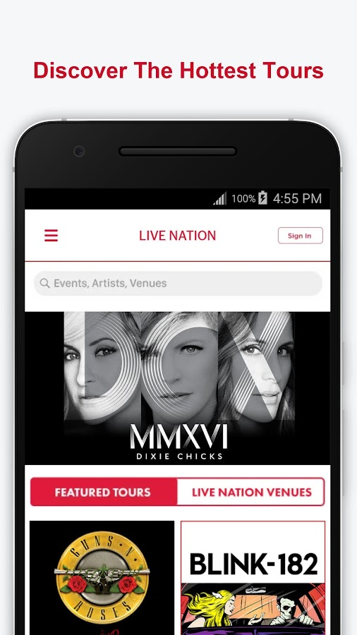 Live Nation At The Concert- screenshot
