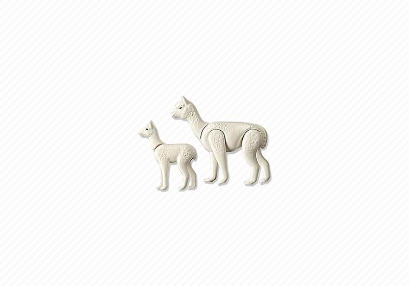 Contenido de Playmobil® 6647 Alpaca con Bebé