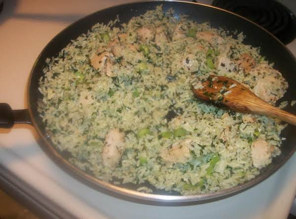 Chicken And Green Rice