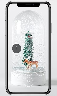 Snow Globe Lock Screen - náhled