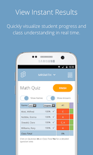 Socrative Teacher: miniatura de la captura de pantalla