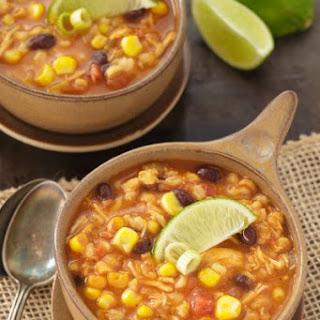 Southwest Chicken Barley Soup