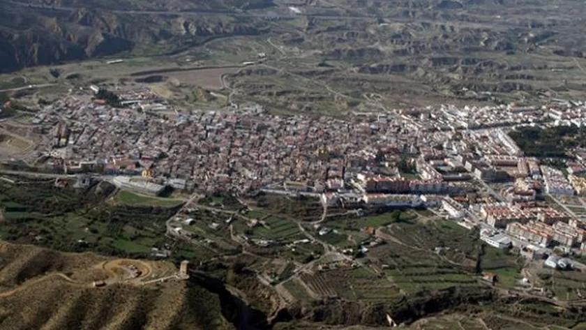 Vista general del municipio almeriense de Huércal Overa.