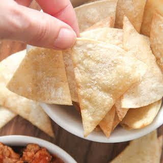 Homemade Corn Tortilla Chips.