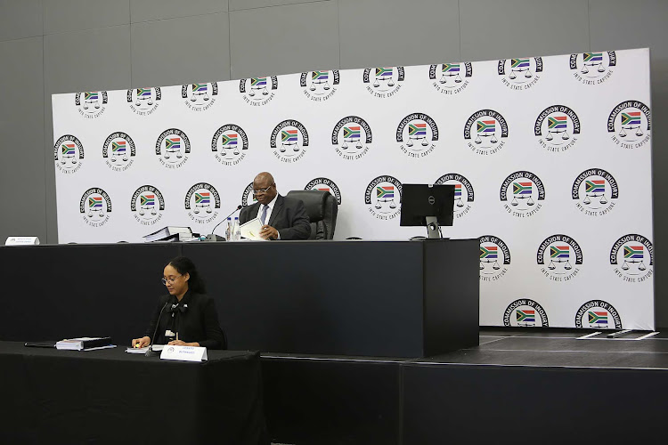 Judge Zondo at the state capture inquiry commission