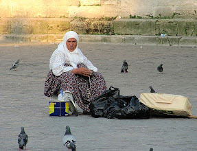 Photo: Day 105 - Old Woman Selling Pigeon Food