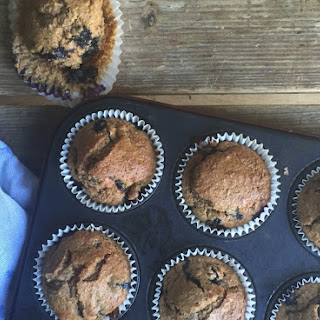 Blueberry and Chia Spelt Muffins.