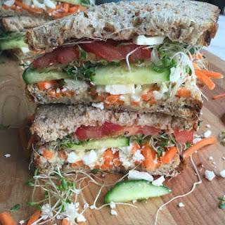 Mediterranean Veggie Sandwich.