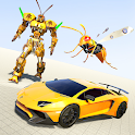 Wasp Robot Car Game: Robot Transforming Games icon