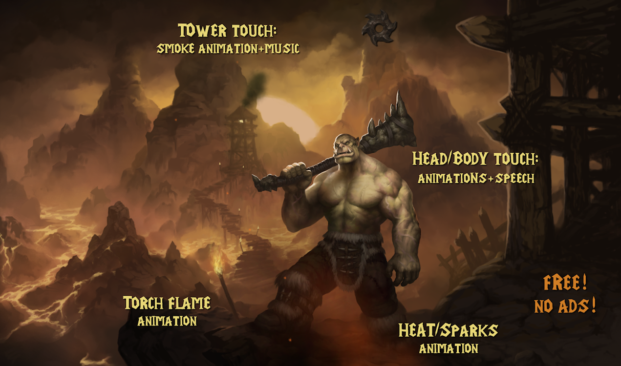 Orc Warlord Fantasy Live Wallpaper Hd Lwp Theme Android