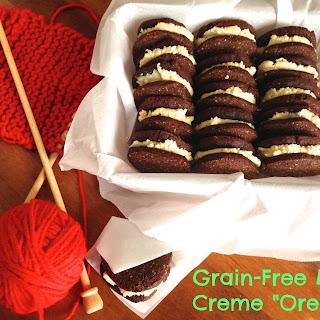 Grain Free Mint Creme Chocolate Sandwich Cookies (Paleo, Grain-free, Dairy Free)