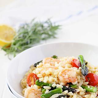 Lemon Tarragon Shrimp and Orzo