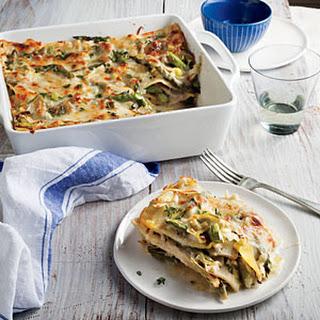 Creamy Artichoke and Asparagus Lasagna