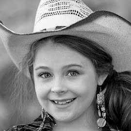 Western Smile by Sylvester Fourroux - Black & White Portraits & People