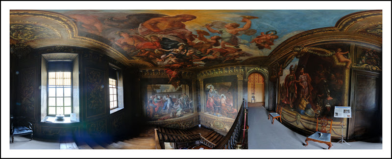 Photo: The Amazing Painted Staircase at Hanbury Hall