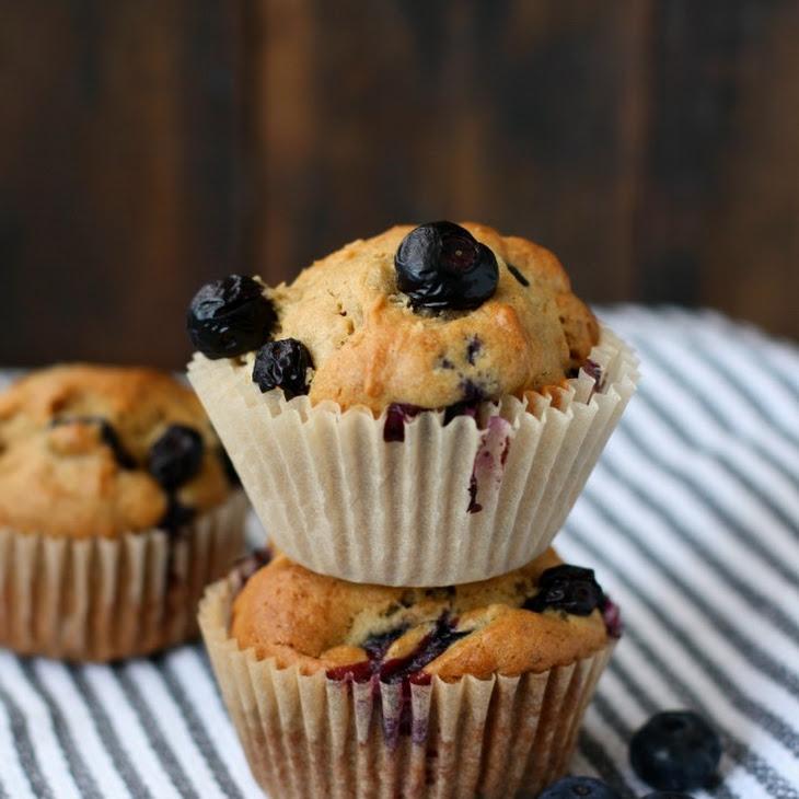 Gluten Free Banana Blueberry Muffins.
