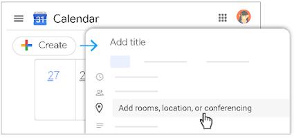 Tạo sự kiện: đặt tên cho cuộc họp, nhập ngày giờ, mời khách và quản lý chi tiết