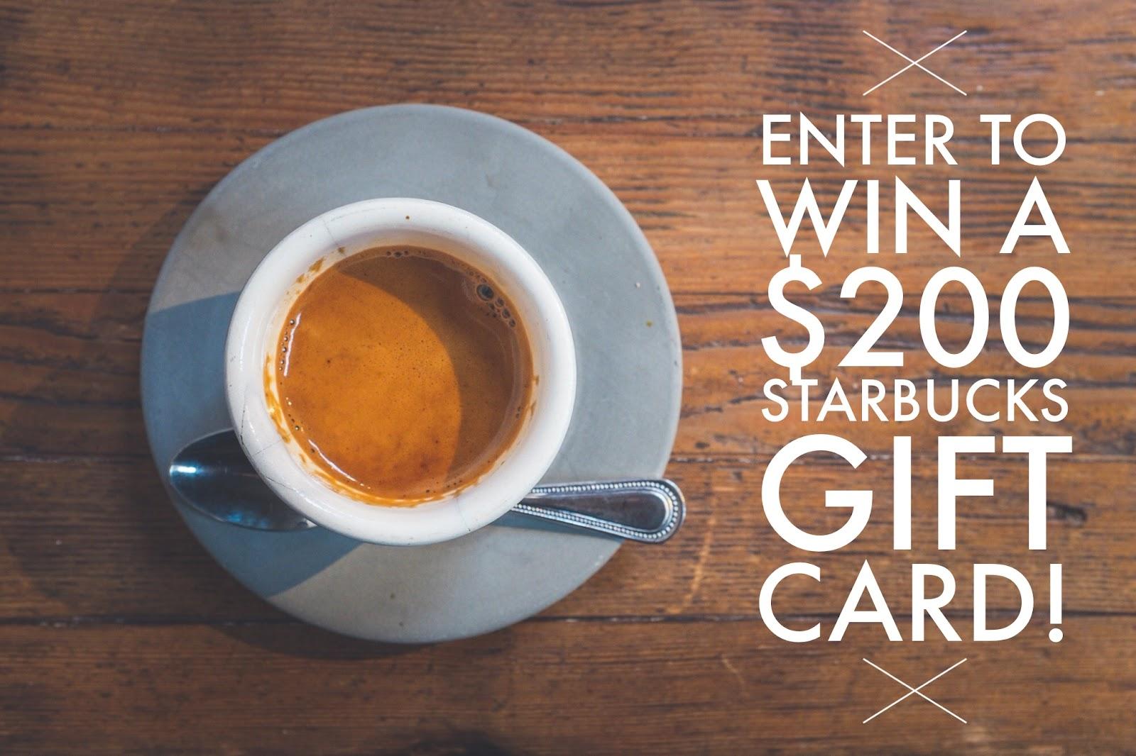 Starbucks $200 GIVEAWAY!