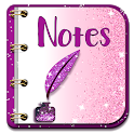 Glitter Notepad Notes icon