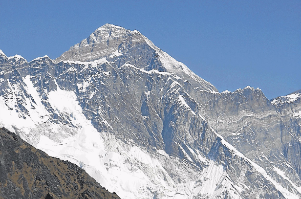 Mount Everest as seen from the hills of Syangboche in Nepal. File photo.