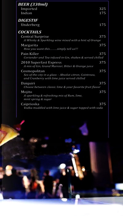 Bar & Lounge, Ramada menu 4