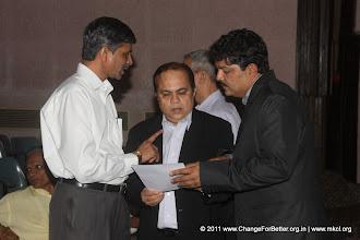 """Photo: Change for Better Release Function November 13, 2011. Shri. Suresh Prabhu, former Union Minister released """"Change for Better"""" at HMCT Auditorium, Pune"""