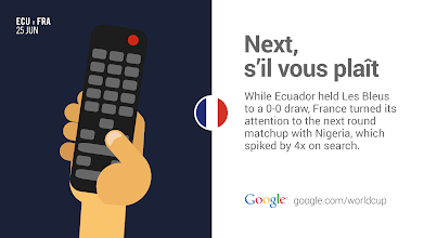 Photo: France is ready for the next course. #ECUvFRA #GoogleTrends