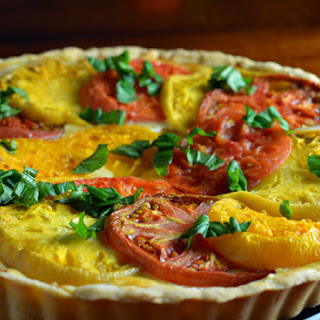 Heirloom Tomato Cheese Tart