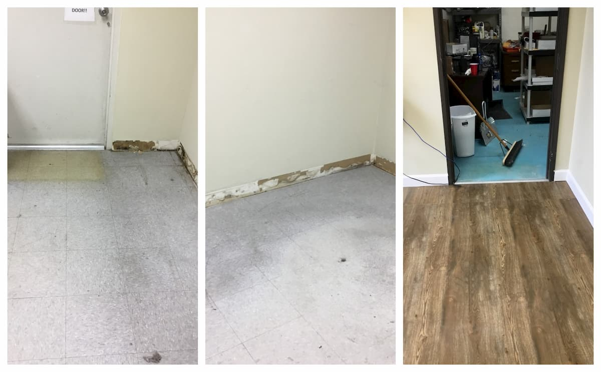 Mr. Handyman floor repair and installation.