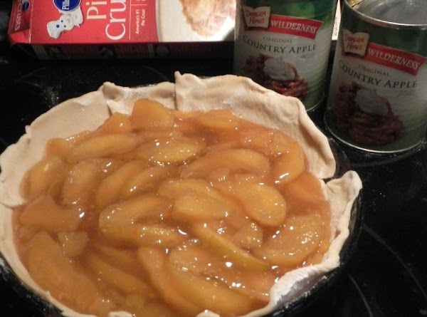 Open two cans of ready to use pie apples.********* Granny's tip #2: Before adding...