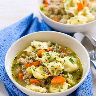 Pesto Turkey Tortellini Soup Recipe
