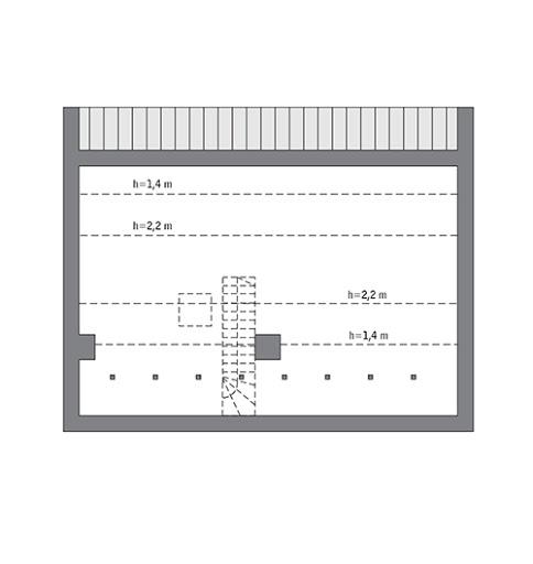 Przejrzysty - wariant III - C365c - Rzut poddasza Do indywidualnej adaptacji (58,2 m2 powierzchni użytkowej)