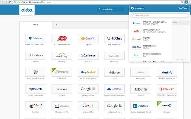 Okta Secure Web Authentication Plug-in chrome extension