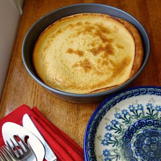 Eggnog Finnish Oven Pancake or Eggnog Pannukakku