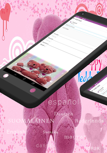 GO Keyboard Teddy Bear Pink