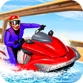 Power Jet Boat Racing: Ski Boat Water Surfer Drive
