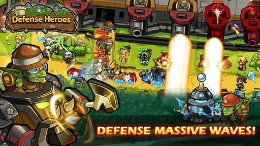 Defense Heroes: Defender War Tower Defense Offline apklade screenshots 2