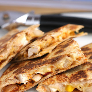 Chicken Tender Quesadilla with Sun-Dried Tomato Chutney.