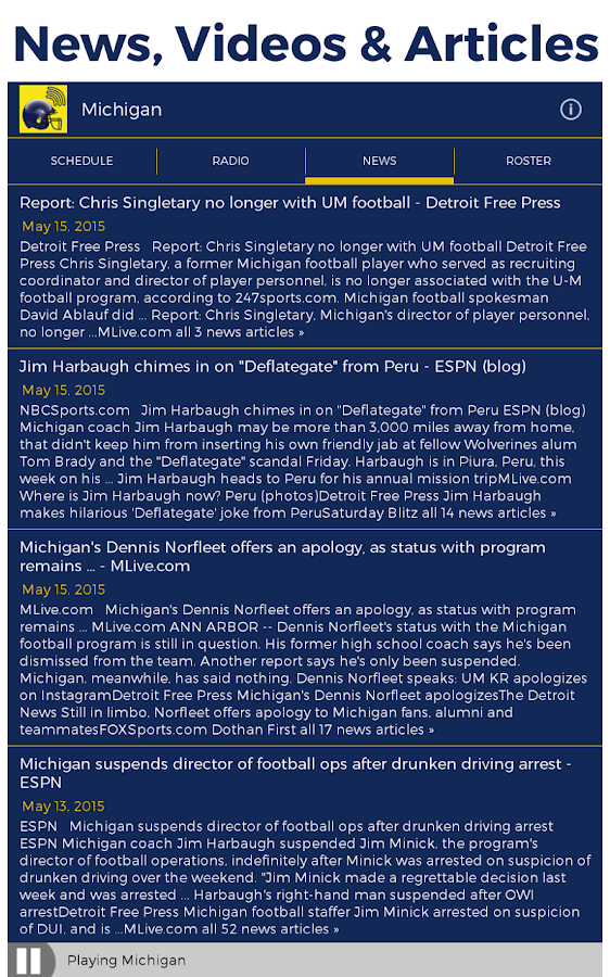 Michigan Radio & Live Scores- screenshot