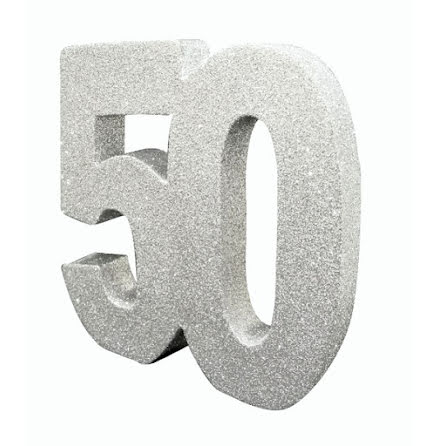 Bordsdekoration 50 silver