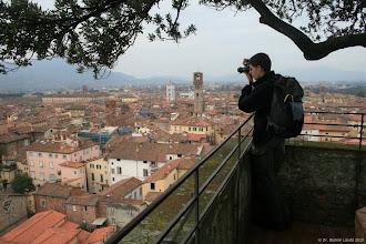 Photo: a Guigini torony tetején Luccában