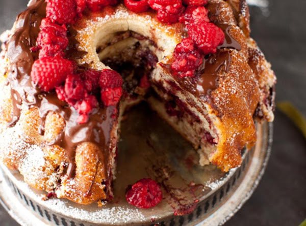 Raspberry  And Chocolate  Butter Cake Recipe