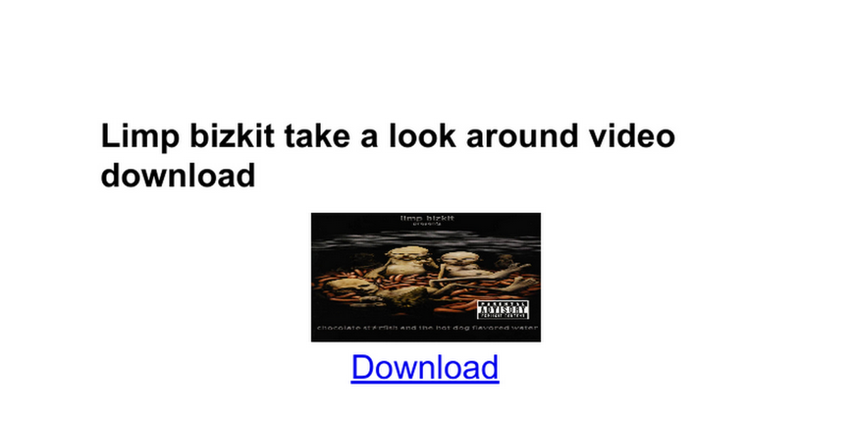 Lyric lyrics to rearranged by limp bizkit : Limp bizkit take a look around video download - Google Docs