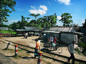Photo: took the pic from window of bus  バスから撮った村 in Bangladesh