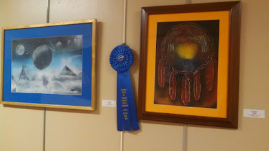 Photo: Tooting my own horn!  First Place - People's Choice Art Show - Howard Young Art Gallery 2014