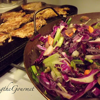 Tasty Sliced Pork Loin with Red Cabbage!!!.