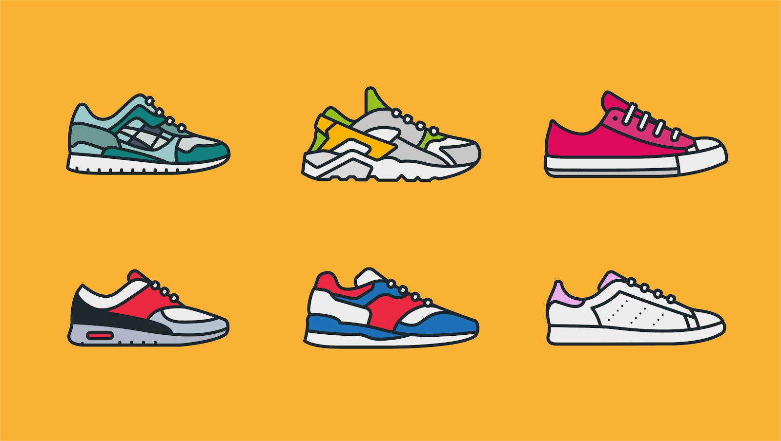 illustration of sneakers