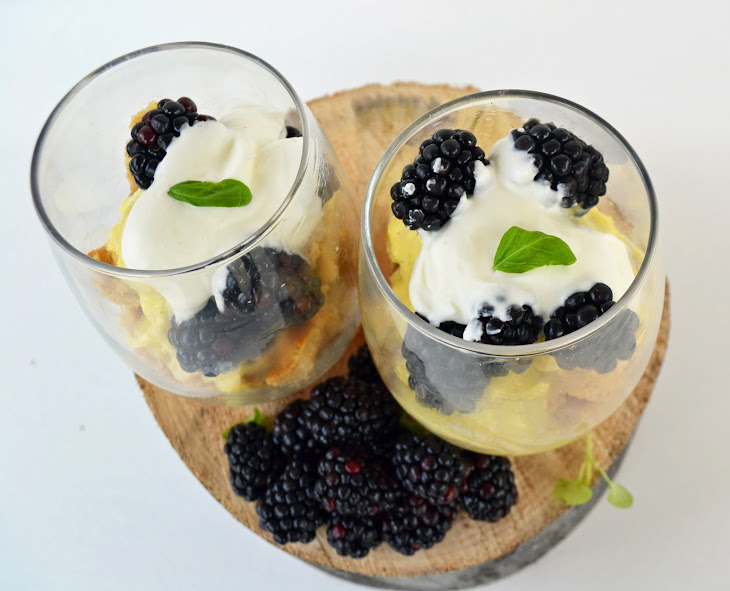 ... old fashioned vanilla bread pudding with blackberries old fashioned