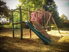Photo: The very popular play area for kids, we are always adding & improving on it as our own son grows with it.