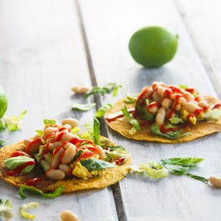 Egg and White Bean Tostadas with Chili Sauce {gluten free}